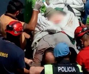foto: Tuvo un terrible accidente y sus hijos piden insumos médicos a cambio de trabajo