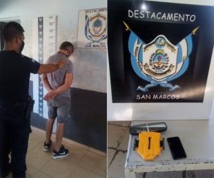 foto: Detuvieron a un sujeto que robó elementos a un remisero