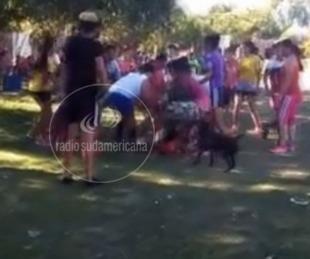 foto: Torneo ilegal de fútbol terminó en una pelea entre unas 100 mujeres
