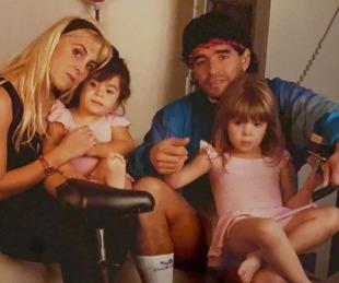 foto: Dalma Maradona compartió un video inédito junto a Diego, Claudia y Gianinna