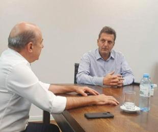 foto: Gustavo Canteros se reunió con Sergio Massa