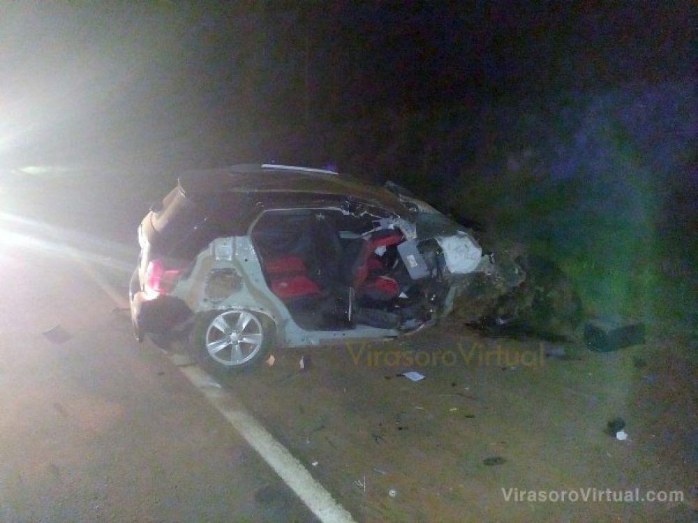 Tres jóvenes murieron tras un violento choque en Virasoro