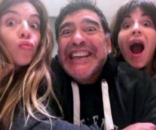foto: Gianinna Maradona recordó a Diego con una desconocida foto de un viaje junto a Dalma