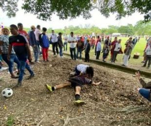 foto: El momento en el que ejecutaron a un jugador de futbol en México
