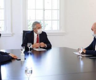 foto: Fernández, Rodríguez Larreta y Axel Kicillof se reunieron en Olivos