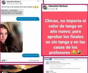 foto: Repudian comentarios sexistas en redes sociales de un docente