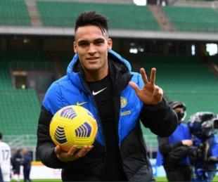 foto: Lautaro Martínez metió tres goles y puso a Inter arriba en la Serie A