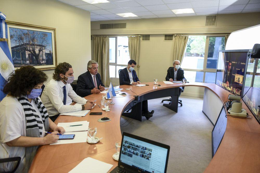 Covid-19: El Presidente encabezó una reunión con los gobernadores