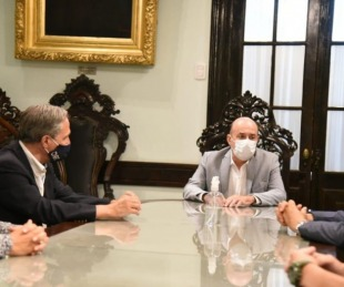foto: Canteros recibió a José Arteaga director Ejecutivo  del ente nacional que regula el transporte