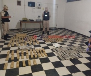 foto: Incautaron 75 kilos de marihuana en una localidad correntina