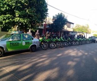 foto: La policía secuestró motocicletas y demoró a 13 personas