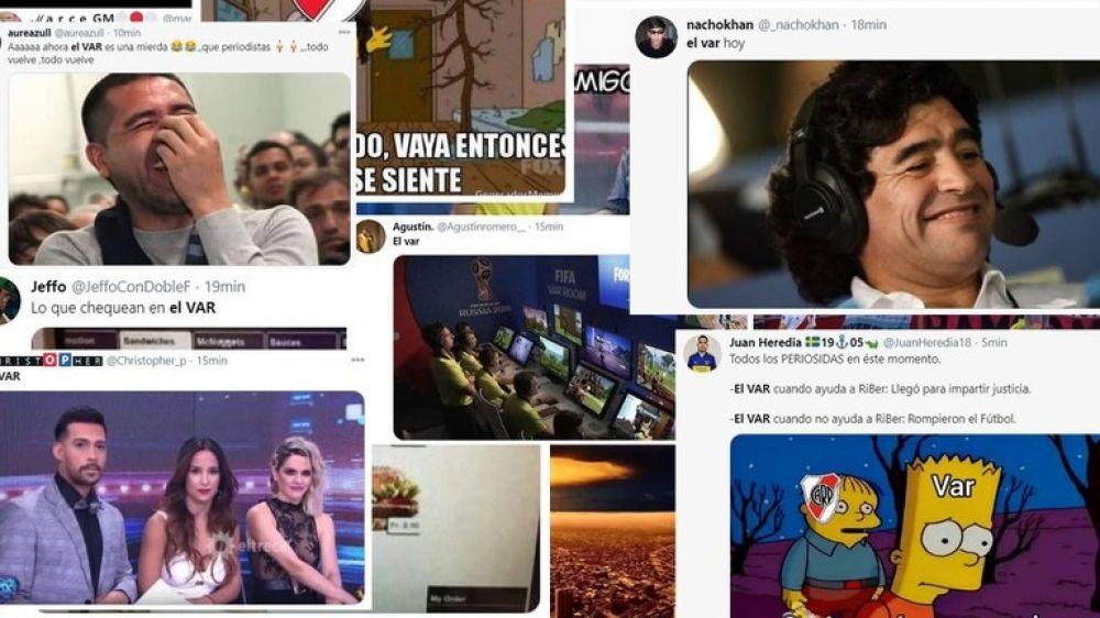 Robo y VAR: Hinchas de River y Boca hicieron estallar los memes