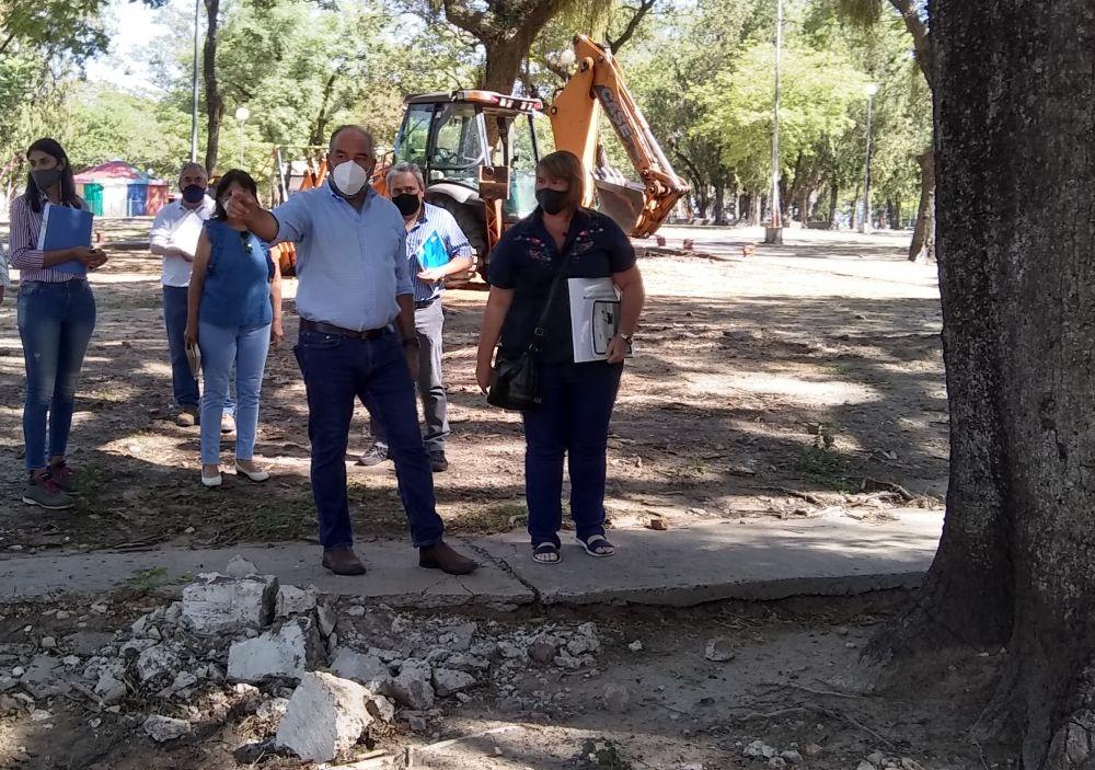 Provincia encara la remodelación urbana del parque Mitre