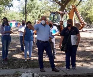 foto: Provincia encara la remodelación urbana del parque Mitre