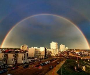 foto: La foto del arcoíris en Monte Hermoso que se viraliza en las redes