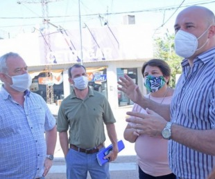 foto: Ascúa recorrió el lugar donde construirán la primera peatonal de Libres