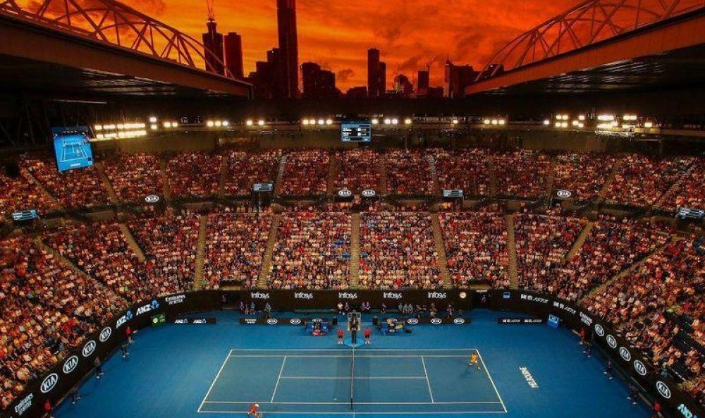 Australian Open: 47 tenistas no entrenarán durante 14 días