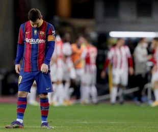 foto: Barcelona perdió la Supercopa española y Messi fue expulsado