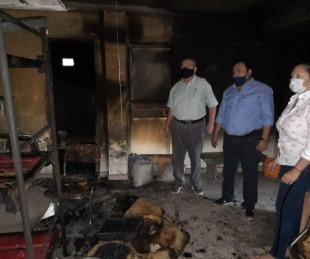 foto: Incendio y robo en un refugio de víctimas de violencia de género