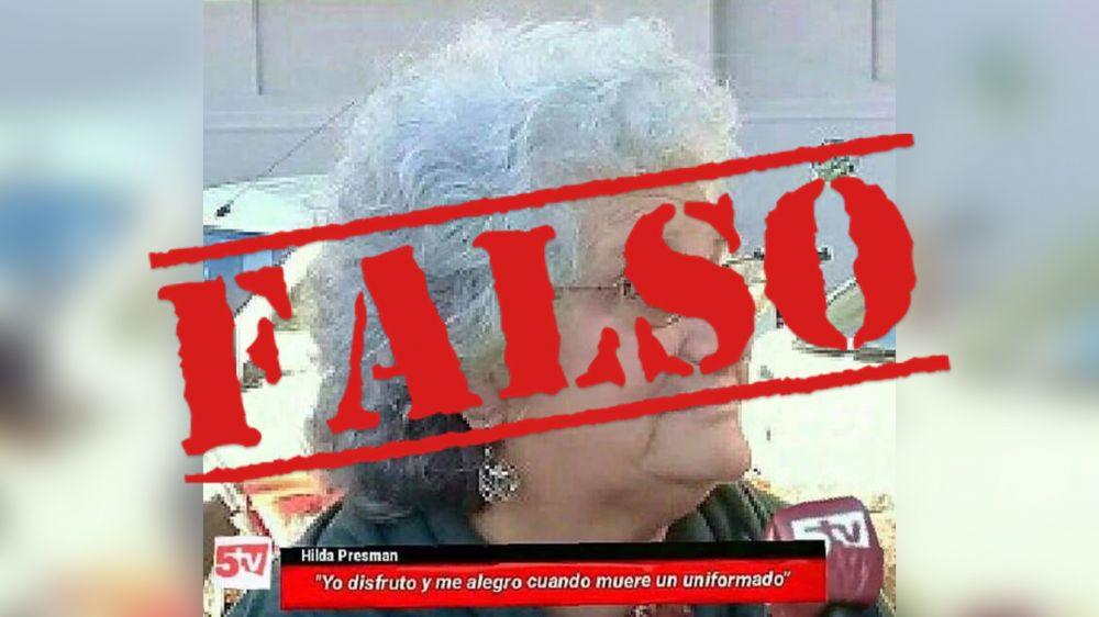 Canal 5TV desmiente la publicación sobre dichos de Hilda Presman
