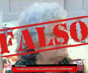 foto: Canal 5TV desmiente la publicación sobre dichos de Hilda Presman