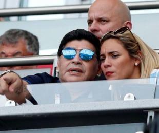 foto: Rocío Oliva usó la tarjeta de Maradona después de su muerte