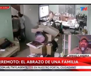 foto: Habló la familia que se abrazó durante el terremoto: