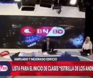 foto: San Juan: Así se vivió el sismo en vivo en un noticiero que estaba al aire