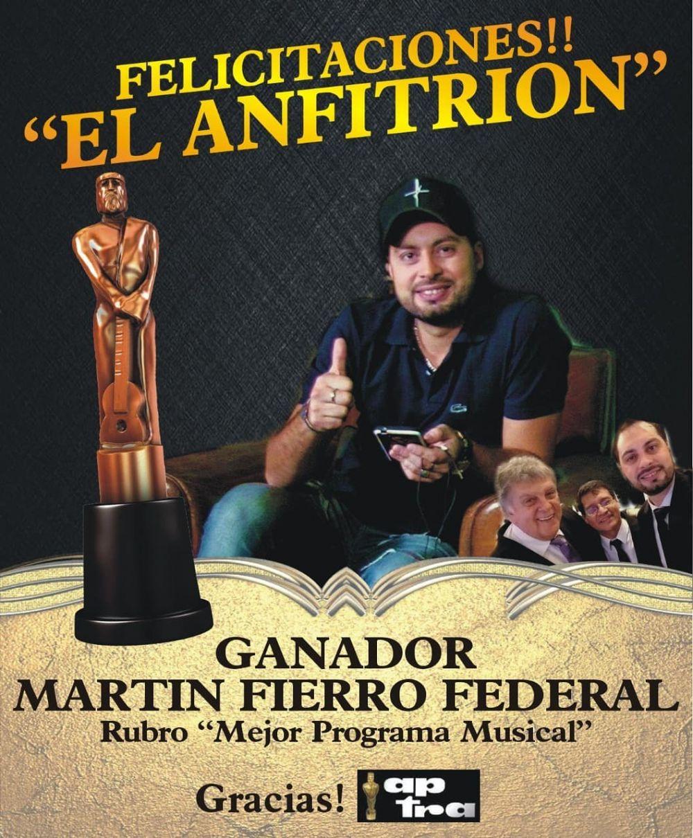 Diego Gutiérrez ganó el Martín Fierro por El Anfitrión
