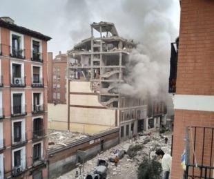 foto: Una fuerte explosión en Madrid destrozó un edificio céntrico