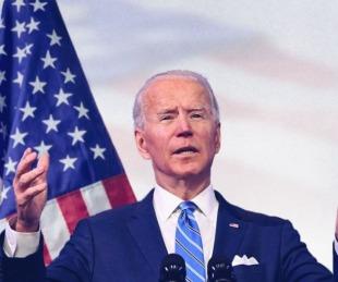 foto:  Asume Joe Biden en medio de un inédito dispositivo de seguridad