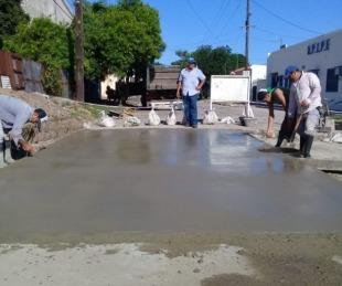 foto: Goya avanza en reparación de pavimento y extensión de agua potable