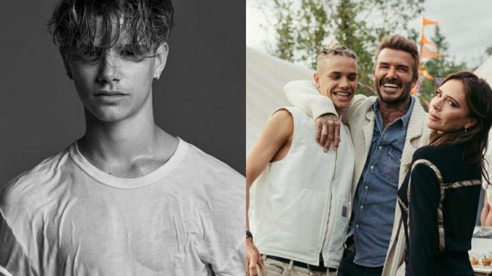 Romeo Beckham debutó como modelo en la tapa de Vogue hombres