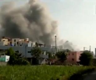 foto: Registraron incendio en el mayor fabricante de vacunas del mundo
