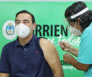 foto: Valdés se aplicó la segunda dosis de la vacuna contra el coronavirus