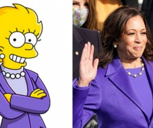 foto: Otra predicción de Los Simpson: Kamala Harris como Lisa Simpson
