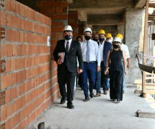 foto: El ministro Trotta recorrió obras en la Escuela Técnica de Vías Navega