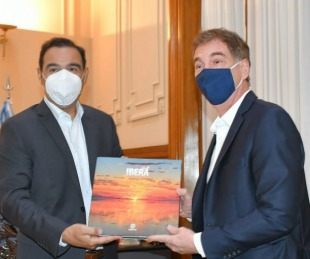 foto: Gustavo Valdés recibió a Diego Santilli, vicejefe de GCBA