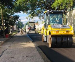 foto: El gobierno Provincial intensifica las obras de mejorado de calles con asfalto caliente