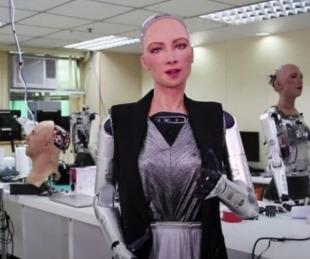 foto: Modelo Sophia: la robot que podría llegar a los aeropuertos