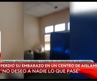 foto: Una mujer perdió un embarazo en un centro de aislamiento