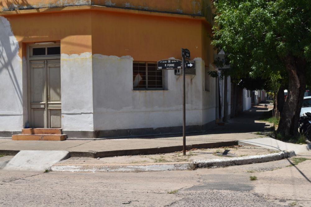 Goya: Construyen rampas para personas con discapacidad