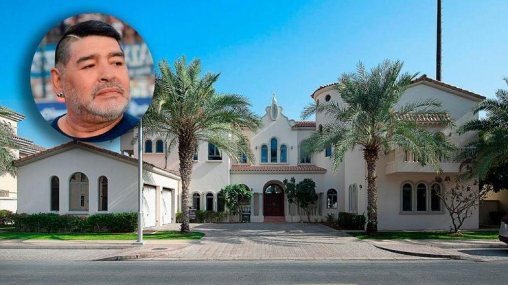 Alquilan la mansión donde vivió Maradona: cuánto cuesta la noche