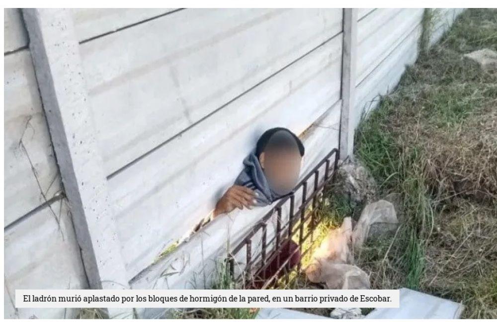 Identificaron al ladrón que murió aplastado por pared justiciera