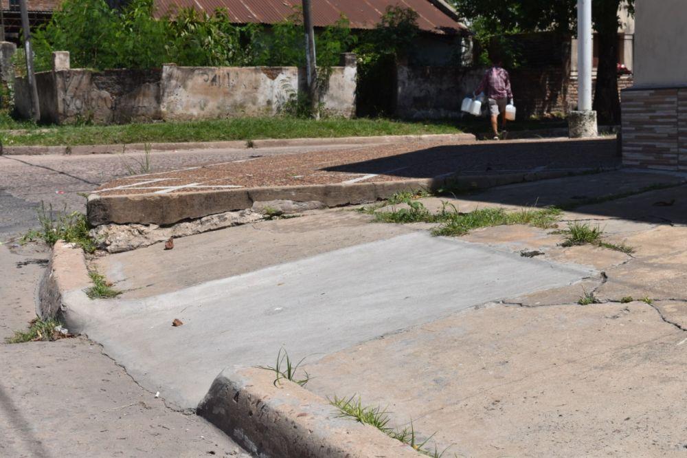 Inclusiva: Hicieron 100 rampas en distintas esquinas de la ciudad