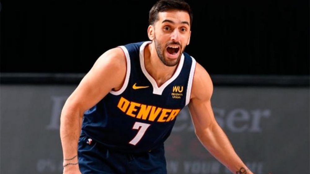 NBA: Campazzo triunfó en Denver Nuggets ante Miami Heat