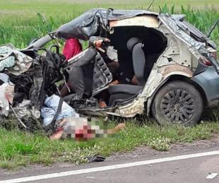 foto: Murió el único sobreviviente del feroz accidente sobre ruta 16
