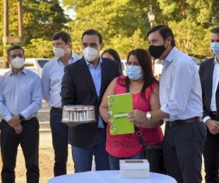 foto: Mocoretá: Valdés firmó convenios de pavimento, infraestructura y seguridad
