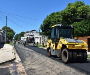 foto: Provincia pavimentó más de 35 cuadras en el Bañado Norte