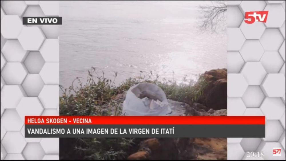 Fue doloroso encontrar destruida la imagen de la Virgen de Itatí
